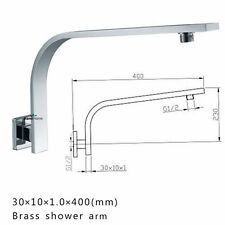 Gooseneck Square Wall Mounted Shower Arm Shower Head Extension Female Connector