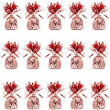 15x Rose Gold Metallic Wrapped Balloon Weights for Birthday Party Wedding Décor