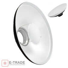 Studio WHITE Beauty Dish 42cm Bowens type with Diffuser Softbox