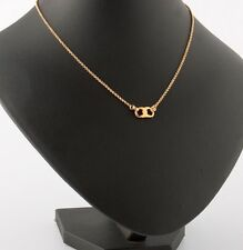 TORY BURCH 16K Shiny Gold-Plated GEMINI Link Thin Necklace w/ Dust Bag