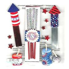 Fireworks & Sparklers 4th Of July Celebration Independence Jolee's 3D Sticker