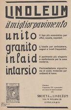 Z5296 LINOLEUM il miglior pavimento - Pubblicità d'epoca - 1926 old advertising