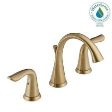 Delta Lahara Widespread Bathroom Faucet in Champagne Bronze3538-CZMPU-DST