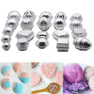 12Pcs 6 Shape Aluminum Bath Bomb Molds Cake Pan Baking Moulds DIY Crafting Tool