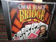OMAR SHARIF: BRIDGE PC CD-ROM GAME, MOST POPULAR CARD GAME EVER, WIN 98/XP, GUC