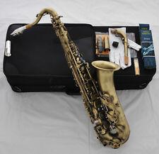 Professioanl Antique C Melody Saxophone High F# 2 Neck Free Sax Metal Mouthpiece