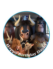 Ferdinand bull edible Cake Image Personalised Birthday Decoration Party Topper