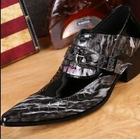MENS PATENT LEATHER SHOES SMART WEDDING FORMAL OFFICE DRESS WORK SHOE SIZE