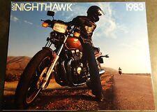 1983 HONDA NIGHTHAWK 650 MOTORCYCLE SALES BROCHURE 6 PAGES NICE  (831)