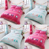 Children Duvet Quilt Cover & Pillowcases Set Kids Printed Bedding S,D,K Size New