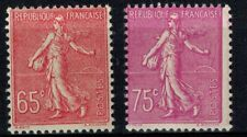 France timbre type semeuse N° 201 et 202 Neuf ** MNH