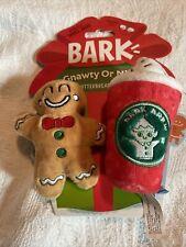 New listing Bark Box Dog Chew Toys BarkBox Gnawty Or Nice Jitterman -Gingerbread Man & Latte
