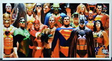 JUSTICE HEROES PRINT Alex Ross art Justice League Wonder Woman Zatanna Batman