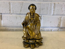 Antique Chinese or Japanese Gilded Gold Lacquered Buddha Figurine Statue