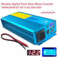 1500W 3000W Reiner Sinus Spannungswandler 12V auf 230V Inverter Wechselrichter