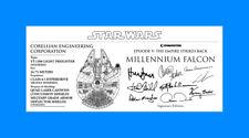 DeAGOSTINI MILLENIUM FALCON specs signature Plaques 3x7