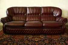 Divano chesterfield chester inglese 4 posti colore amaranto / pelle / leather