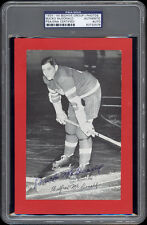 1934-44 Beehive Bucko McDonald (Detroit Red Wings) Autographed/Signed - PSA/DNA