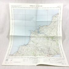 1962 Vintage Military Map of Padstow Newquay St Austell Bodmin Wadebridge