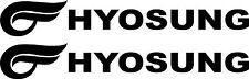 Hyosung   vinyl cut decals TWO (2) 240 X 35 mm each