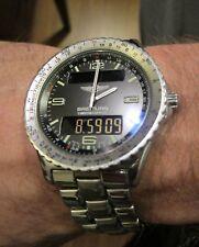 Breitling Chronospace Quartz 42mm Professional Black Dial A56012 Need Case Cover
