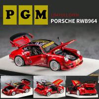 PRE-ORDER PGM 1:64 Scale Porsche 964 RAUH-Welt Begriff RWB Car Model Limited Red