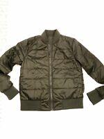 LULULEMON Women's Athletic Luxury Puffer Bomber Jacket 6 Forret Green Sport Rvrs