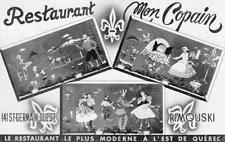 RESTAURANT MON COPAIN Rimouski, Québec, Canada ca 1950s Vintage Postcard