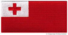 TONGA FLAG embroidered iron-on PATCH TONGAN KINGDOM EMBLEM
