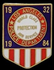 Los Angeles Police Department~LAPD Olympic pin badge~Protection & Service~1984