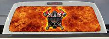 FIREFIGHTER / FIRE DEPT FIRE RESCUE MALTESE CROSS BACK WINDOW DECAL 50/50 TINT