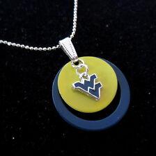 West Virginia University WVU ENAMEL CHARM PENDANT NECKLACE Mountaineers jewelry