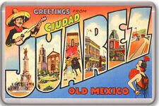 GREETINGS FROM CIUDAD JUAREZ OLD MEXICO FRIDGE MAGNET SOUVENIR IMAN NEVERA