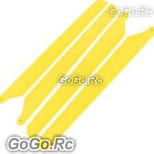 2Set 205mm Yellow Plastic Main Rotor Blades - Trex T-rex 250 Heli (RH25046-YY)