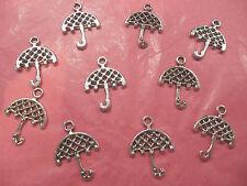 Tibetan Silver Umbrella Charms 10 per pack