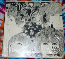 BEATLES Revolver 1st STEREO pressing PROMO w/ punch hole SIGNED vg+ SHRINK