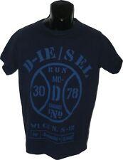 NWT DIESEL Jeans tee Large men's blue designer logo T-shirt dark navy
