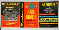 Set of 3 HO RailRoads You Can Build Primer Book 1950s - 1970s  Booklets