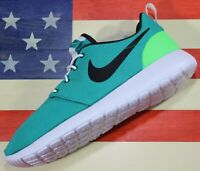 Nike Roshe One Run Men's Running Shoes Neptune Green Black White [511881-309]