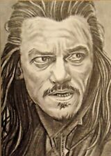 ORIGINAL ACEO sketch card THE HOBBIT Luke Evans BARD