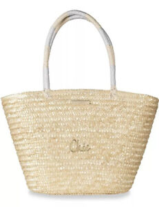 Katie Loxton Chic Large Straw Beach Summer Bag BNWT £78 Gift Sofia Tote Shoulder