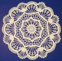 Elegant Original Design Crocheted Doily, 14 inches, New