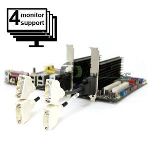 2x Nvidia Video Card Set for 4 Monitors Support DVI  Quad Display PCI-ex16