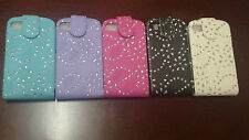 Bling Glitter Crystal Diamond Leather Flip Case cover For Blackberry Phones