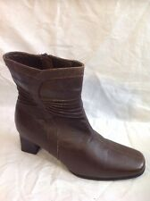 Pavers Brown Ankle Leather Boots Size 38