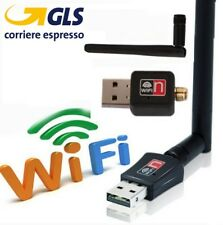 CHIAVETTA MINI USB WIRELESS PENNA ADATTATORE WI-FI PER PC MODEM ROUTER 1000 Mbps