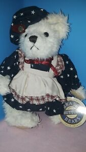 Brass Button Bear OPAL PATRIOTIC Pickford Bears Plush Stuffed Animal