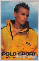 POLO SPORT Ralph Lauren '90s PRINT AD teen boy fashion advert yellow jacket 1997