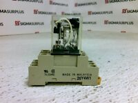 Omron Relay and Socket 21Y4W3/26Y4W1 5A 240VAC 28VDC Coil 24VDC