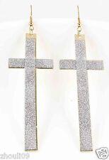 9k Yellow Gold Filled Women Elegant Rhinestone Ear Stud dangle Earrings e494